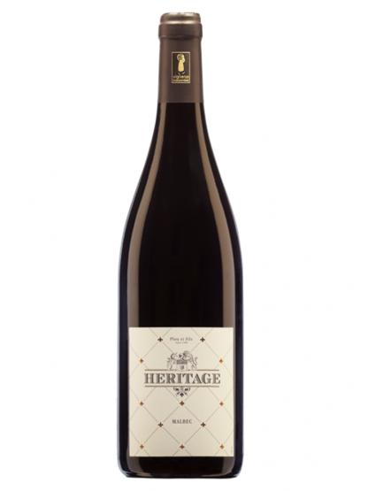 Bouteille de vin rouge Héritage AOC Touraine Amboise