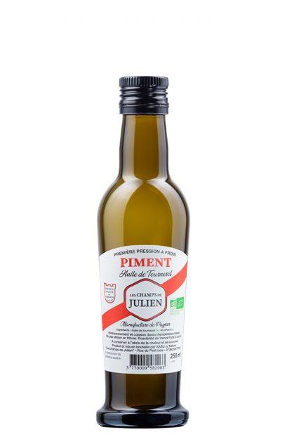 photo huile aromatisée piment espelette