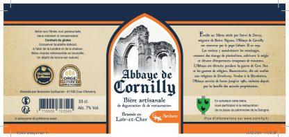 Etiquette bière Abbaye Cornilly Ambrée © du Centre