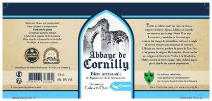 Etiquette bière blanche Abbaye de Cornilly © du Centre