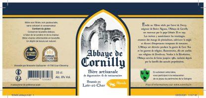 Etiquette bière Abbaye de Cornilly blonde © du Centre