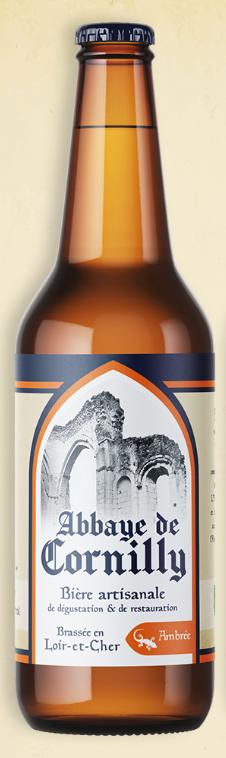 Bouteille de bière Abbaye Cornilly ambrée © du Centre