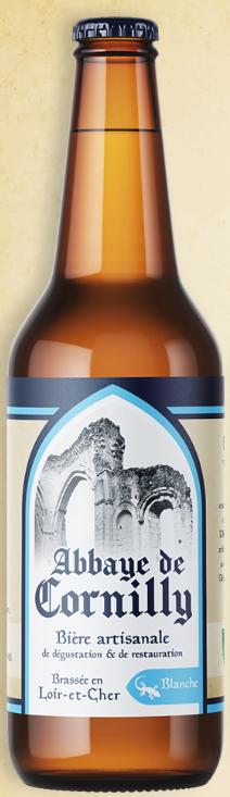 Bouteille de bière blanche Abbaye de Cornilly © du Centre
