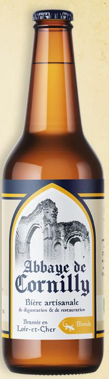 Bouteille de bière Abbaye de Cornilly blonde © du Centre